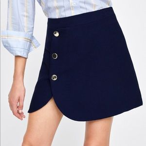 ZARA Mini Skirt with Buttons NWT